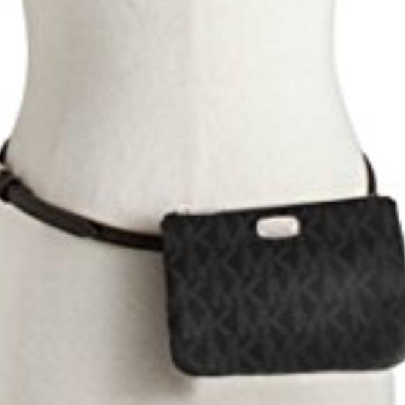 4f5ab504c05c Michael Kors Bags | Signature Black Fanny Pack Belt Nwt | Poshmark